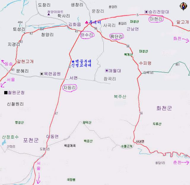 김화권 지도 입니다.